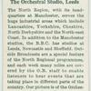 The orchestral studio, Leeds.