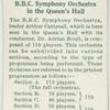 B.B.C. Symphony Orchestra in the Queen's Hall.