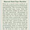 Marconi steel-tape machine.