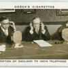 Inauguration of England to India telephone service.