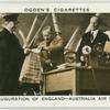 Inauguration of England--Australia air mail.