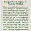 Inauguration of England--Australia air mail.