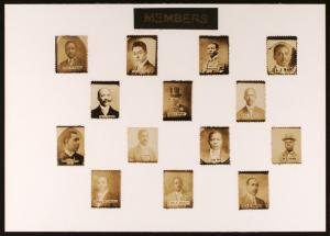 Stamp-sized portraits of Charles H. Tyson et al., members of the Carthaginian Lodge no. 47 (Prince Hall)