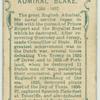 Admiral Blake, 1598-1657.