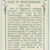 Duke of Marlborough.