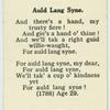 Auld Lang Syne.