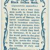 Black arches moth & larva.