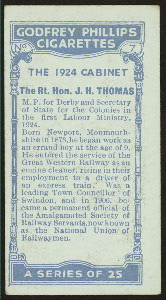 The Rt. Hon. J.H. Thomas.