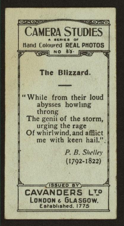 The blizzard.