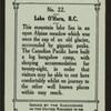 Lake, O'Hara, B.C.