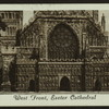 West front, Exeter Cathedral.
