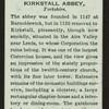 Kirkstall Abbey.