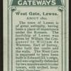 West Gate, Lewes.