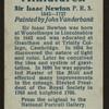 Sir Isaac Newton, P.R.S.