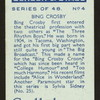 Bing Crosby.