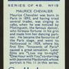 Maurice Chevalier.
