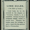 Lord Gules, Book of Snobs.
