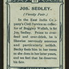 Jos Sedley, Vanity Fair.