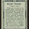Becky Sharp, Vanity Fair.