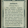 Dobbin, Vanity Fair.