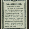 Mr. Goldmore, Book of Snobs.
