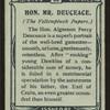 Hon. Mr. Deuceace, Yellowplush Papers.