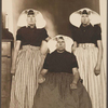 Mother and her two daughters from Zuid-Beveland, province of Zeeland, The Netherlands