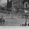 First Colored Battalion, District of Columbia, National Guard; On Pensylvania Avenue, Washington, D.C.; Parading the National Guard before going to France.
