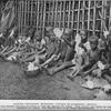 Native children spinning cotton in Kamerun, Africa.