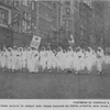 Negro nurses march in Great Red Cross Parade on Fifth Avenue, New York City.