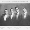 Wilberforce University Quartette; Agnus Redden, Basso; H.Q. Smith, Tenor; L.O. Byrd, Director, Baritone; L.H. Berry, Manager, Tenor.