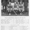 The basketball squad of 1921-'22.
