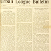 The Urban League Bulletin, May 1922. [Cover page]
