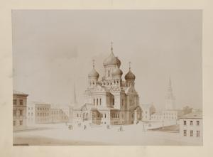 [General view of Aleksandro-Nevskii cathedral.]