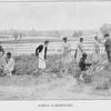 Girls gardening