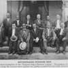Enterprising business men; The Executive Committee of the National Negro Business League; The purpose of this league is to bring the business men together for mutual cooperation and trade advancement.
