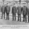 Representatives of the overground railroad; Here are lined up in their uniforms some of the brightest Parlor Car porters of the Chicago and Northwestern Railroad.