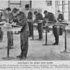 Accuracy of mind and hands; Drafting class of young men receiving a course in mechanical drawing, qualifying them for making working plans of machinery, vehicles, buildings, etc., Hampton Institute.