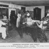 Learning industry and thrift; Dressmaking in the Spellman Seminary, Atlanta, Georgia; The young women are fast becoming experts in their work.