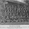 The boys in uniform; A splendid company of cadets who show in their appearance and deportment the careful training received at Tuskegee Institute.