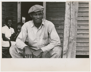 Sharecropper on Sunday, Little Rock, Ark., October 1935.