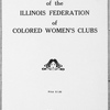 The story of the Illinois Federation of Colored Women's Clubs, title page