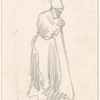 Woman holding a stick.]
