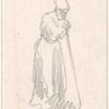 Woman holding a stick.]