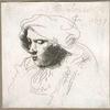 [Tête de femme (copie d'après Rembrandt).]