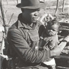 Negro sharecropper and son who will be resettled, Transylvania Project, Louisiana, January 1939.