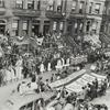Fundraising Harlem patriotic rally on W. 119th Street