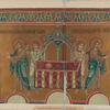 Mozaicheskoe izobrazhenie Evkharistii na vostochnoi stene altaria