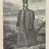 Russkaia odezhda s XIV do XVIII stoletiia. Polskaia Shuba i Shapka Gorlatnaia (vid izobrazhaet chast goroda Pskova v XVII stoletii)