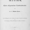 Afrika. Eine allgemeine landeskunde von Prof. Dr. Wilhelm Sievers. [Title page]